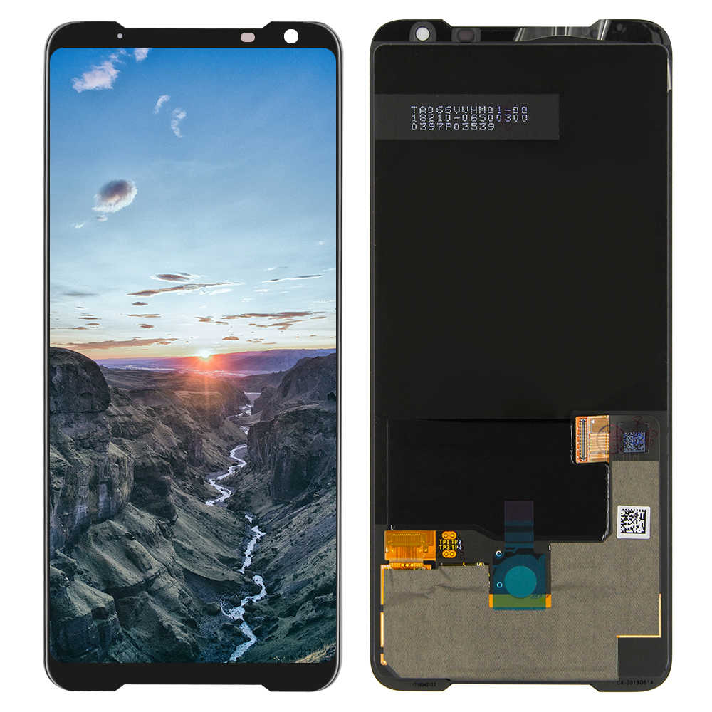 "AMOLED LCD สำหรับ 6.59 ""ASUS-ROG โทรศัพท์ 2 Phone2 PhoneⅡ ZS660KL AMOLED LCD + TOUCH Digitizer ASSEMBLY Repair"