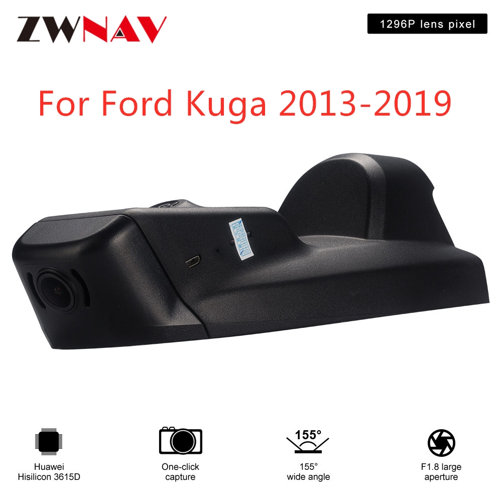 <font><b>Hidden</b></font> Type HD Driving recorder dedicated For <font><b>Ford</b></font> Kuga 2013-2019 <font><b>DVR</b></font> Dash cam <font><b>Car</b></font> front camera <font><b>WIfi</b></font> image