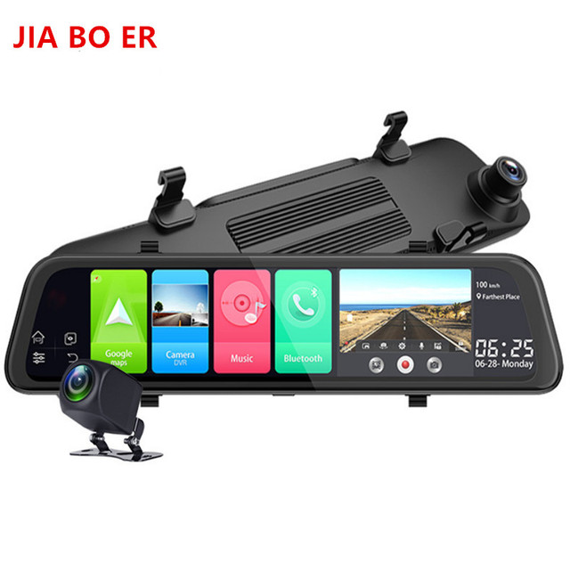 "12"" 4G Touch Screen Car Dash Camera Recorder Rearview DVR Mirror Full HD 1080P Android 8.1 Wifi GPS Navigation Mirror Video Cam 3"