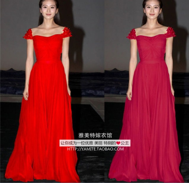 Robe De Soiree Free Shipping 2018 New Fashion Hot Vestido De Festa Long Cap Sleeve Flowers Party Gown Formal Bridesmaid Dresses
