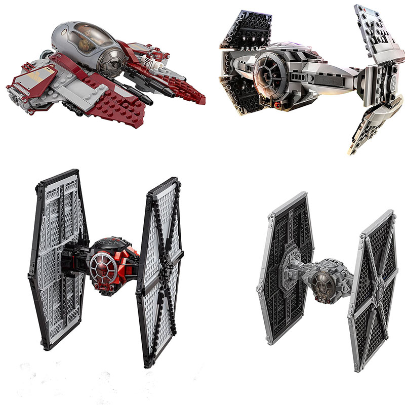 Compatible Lepining Star Wars Obi-Wan's Jedi Interceptor Revenge Of The Sith Tie Fighter Block Set Starwars Toys For Children