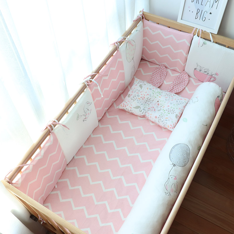 Baby Crib Bumper For Newborns Cute Kids Bed Cushion Thick Soft Children Cot Bumper Baby Room Decor Bedding Accessories