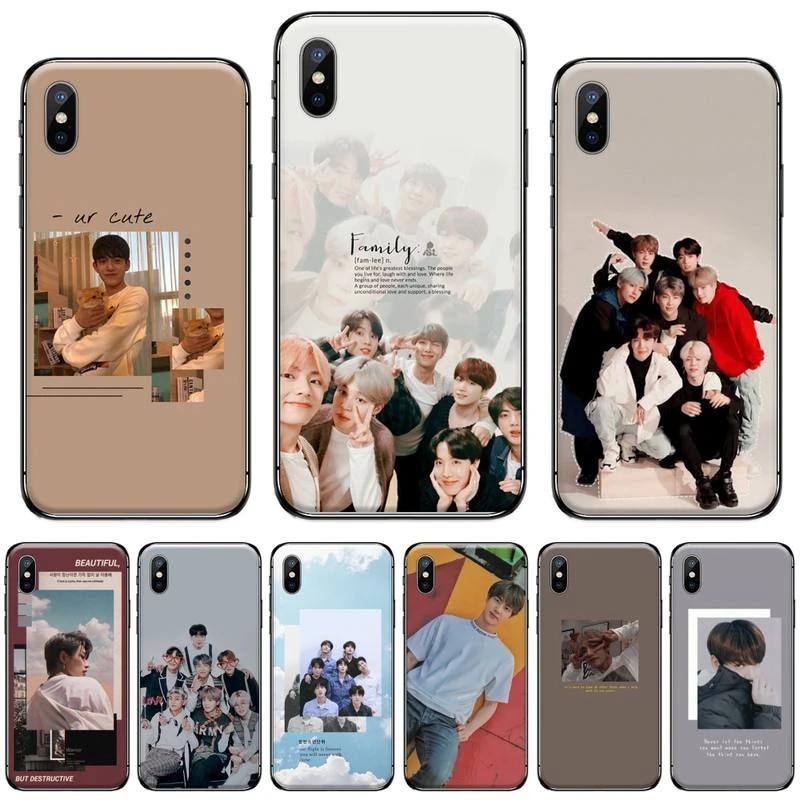 kpop boy Korean Group bangtan Coque Shell Phone Case For iphone 5 5s 5c se 6 6s 7 8 plus x xs xr 11 pro max