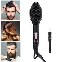 Ionic Beard Straightener Comb Quick Beard Styler Comb Ionic Electric Beard Straightening Hair Straightening Brush for Adult