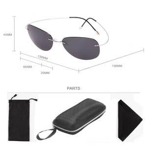 Image 5 - Naloain óculos de sol polarizado, óculos de sol espelhado e sem aro de titânio com lente uv400, espelhado, leve para homens e mulheres, para dirigir e pescar