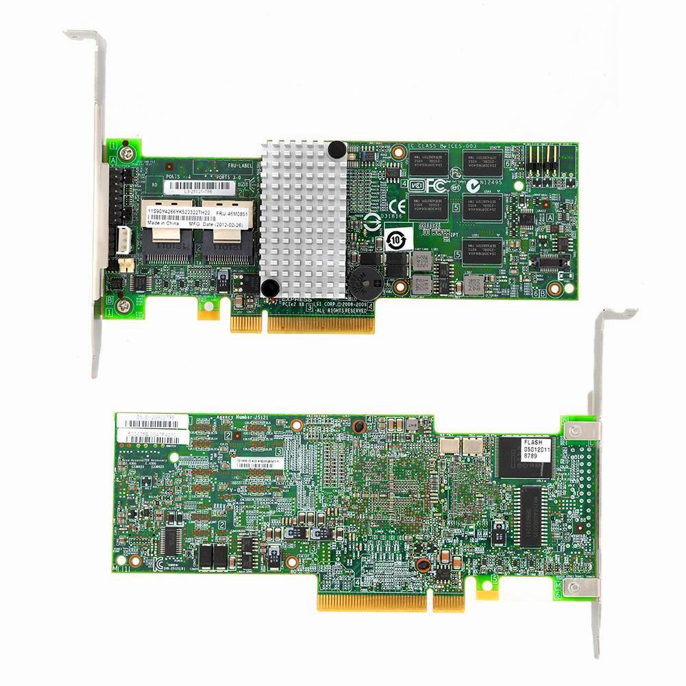 IBM M5015 LSI 9260-8i 512MB PCI-Ex8 SAS SATA 8-port 6Gb RAID Controller Card