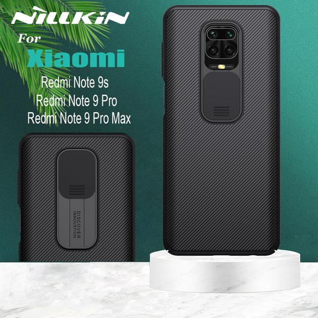 Nillkin caméra étui de Protection pour Xiaomi Redmi Note 9s Note 9 Pro Max étui à glissière lentille protéger la vie privée housse sur Redmi Note9