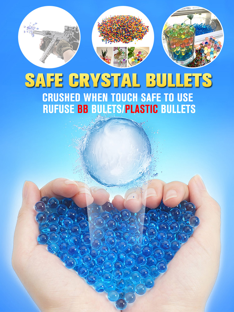 250pcs 7-8mm Hydrogel Pearl Shaped Crystal Soil Water Beads Mud Grow Ball Wedding Kids Toy Growing Water Balls for Gun Bullets 1