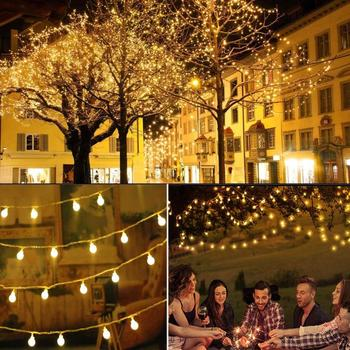 Battery Operated Garland Christmas Fairy Lights 100 LED Globe String Lights Home Indoor Bedroom Wedding Party Outdoor Decoration