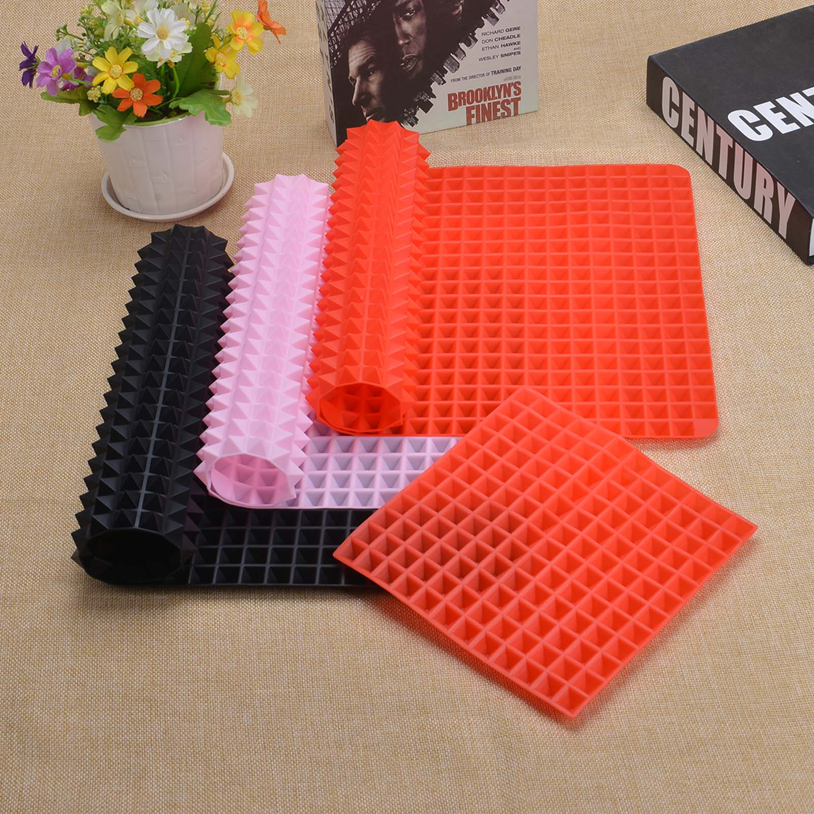 3 Colors Silicone Baking Mat In Non Toxic And High Temperature Resistance For Chocolate And Jelly Pudding 7