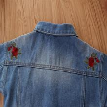 Denim Casual Jackets with Flower for kiddy