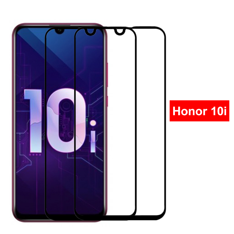 2Pcs Tempered Glass For Honor 10i Full Cover Screen Protector On For Huawei Honor 10i HRY-LX1T Honer I10 Safety Protective Glass