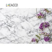 Laeacco Photo Backdrop Marble Texture Surface Flowers Petals Wedding Love Pet Portrait Photographic Background For Studio