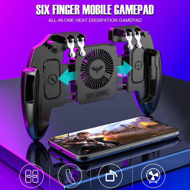 Newest M10 M11 Six Finger Mobile Gamepad Game Controller For MEMO Mobile Phone Game Joystick With Heat Dissipation Function