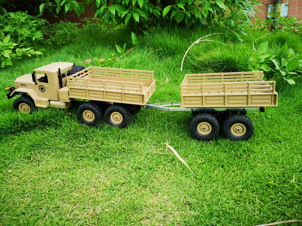 Idealhouse 4 roda de brinquedo reboque uma série de acessórios do caminhão wpl para wpl b14 b16 b24 c14 c24