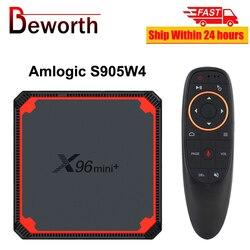 IN STOCK X96 Mini Plus TVBOX X96mini Android 9.0 Smart TV Box 2G 16GB Amlogic S905W4 Quad Core 2.4&5G WiFi Set Top Media Player