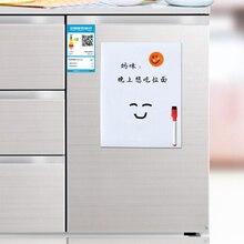1 шт. A5 гибкие магниты на холодильник белая доска Водонепроницаемый Дети Рисование доска для сообщений Магнитная холодильник блокнот
