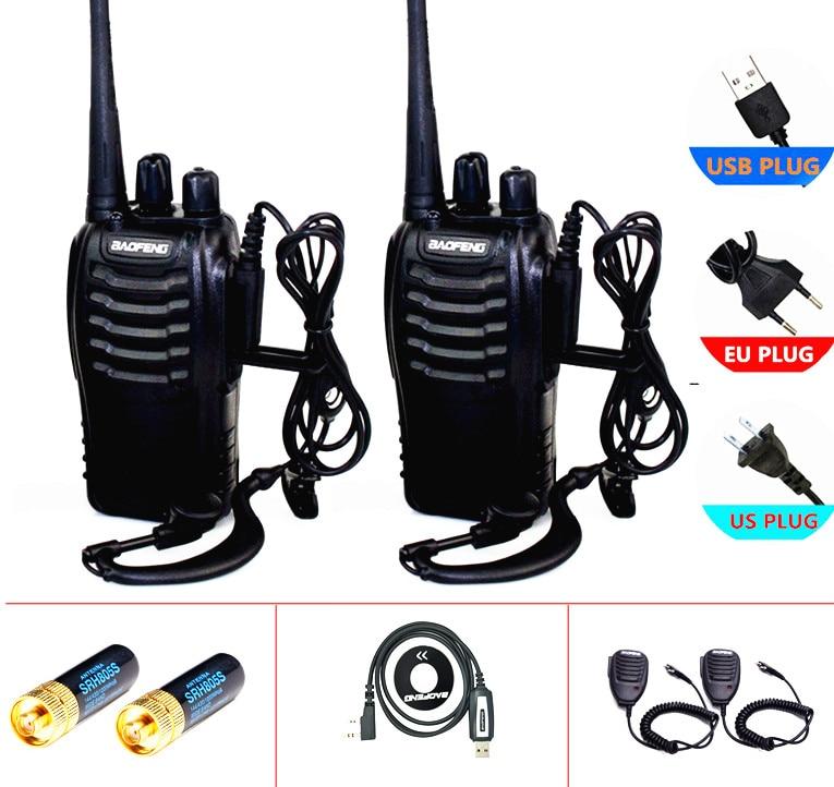 2 pezzi / SET baofeng BF-888S walkie talkie radio comunicatore 5W UHF 400-470MHz 16ch cb radio pofung 888s hf ricetrasmettitore bf ham radi