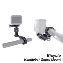 цена на Bicycle Handlebar 360° Rotatable GoPro Mount Bike Sport Camera Mount Holder Adapter Bracket for Go pro Xiaomi Virb MTB Road Bike