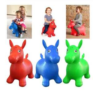 Bouncer Animal-Toys Hand-Pump Horse-Riding Jumping Inflatable Play Horse-Hopper-Toys