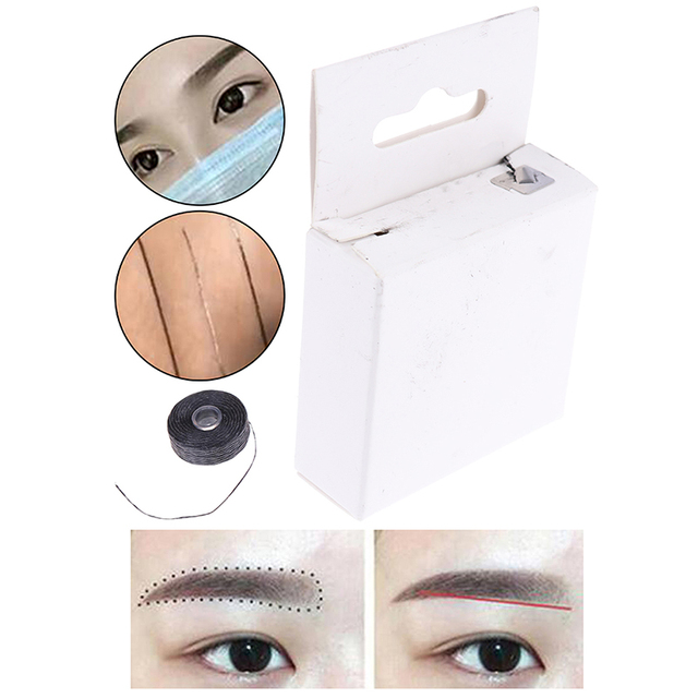 Pre-Inked Brow Mapping Strings Pigment String For Microblading Accessories Brow Mapping Thread For Eyebrow Permanent Makeup