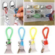Pegs Hangers Clip-On-Hooks Hand-Towel Bathroom-Organizer Loops Kitchen Household 5