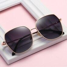 2020 polarisierte Driving Gläser Für Frauen Metall Rahmen UV400 Sonnenbrille Mit Box Größe: 49 16 147mm