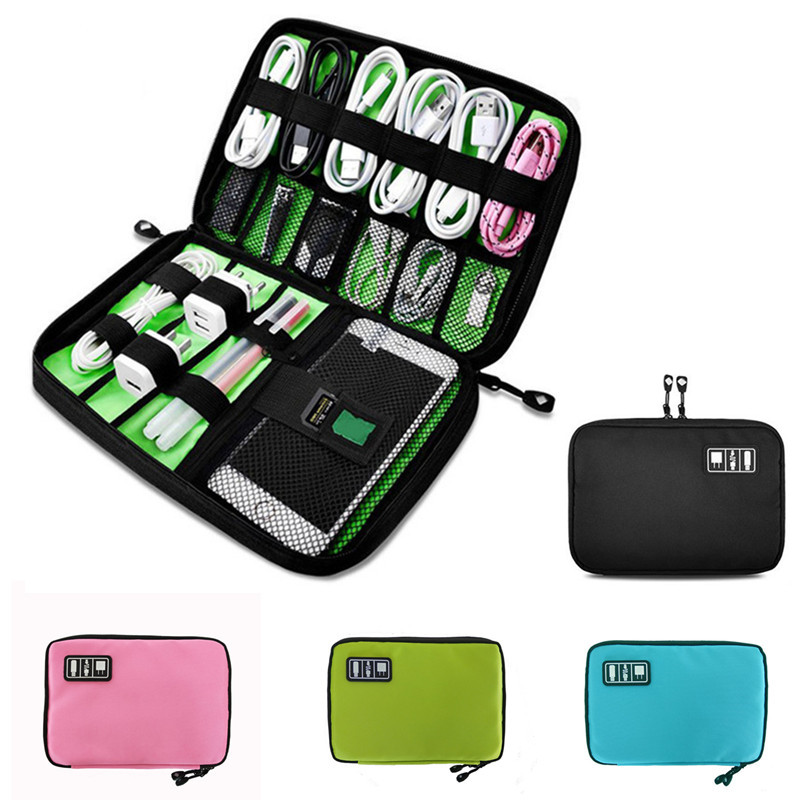 Portable Waterproof Travel Bag Cable Organizer for Earphone Cables USB Flash Drives Storage Bag Digital Gadget Devices Travel