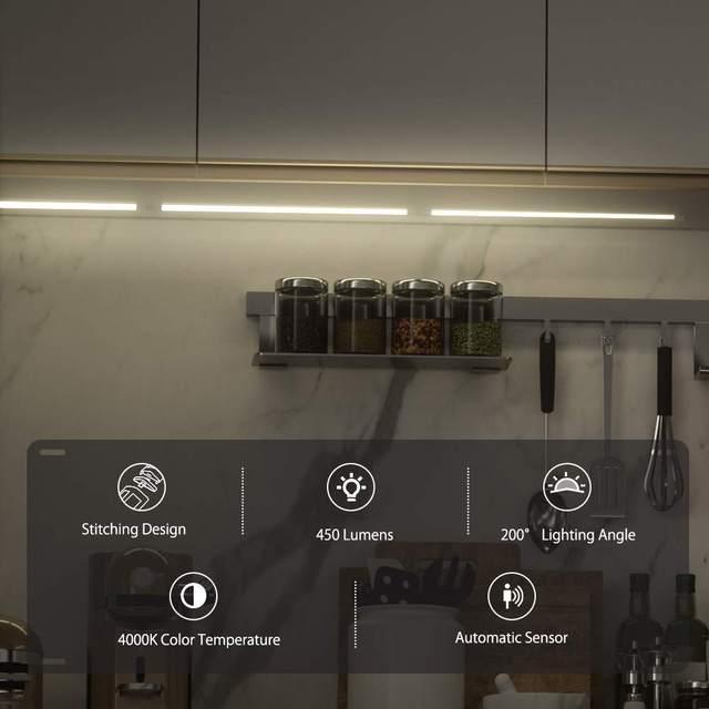 BlitzWolf BW-LT25 12W 4000K Smart Automatische Sensor LED Licht Streifen LED Abnehmbaren & Gespleißt Schrank Licht mit Nähte design