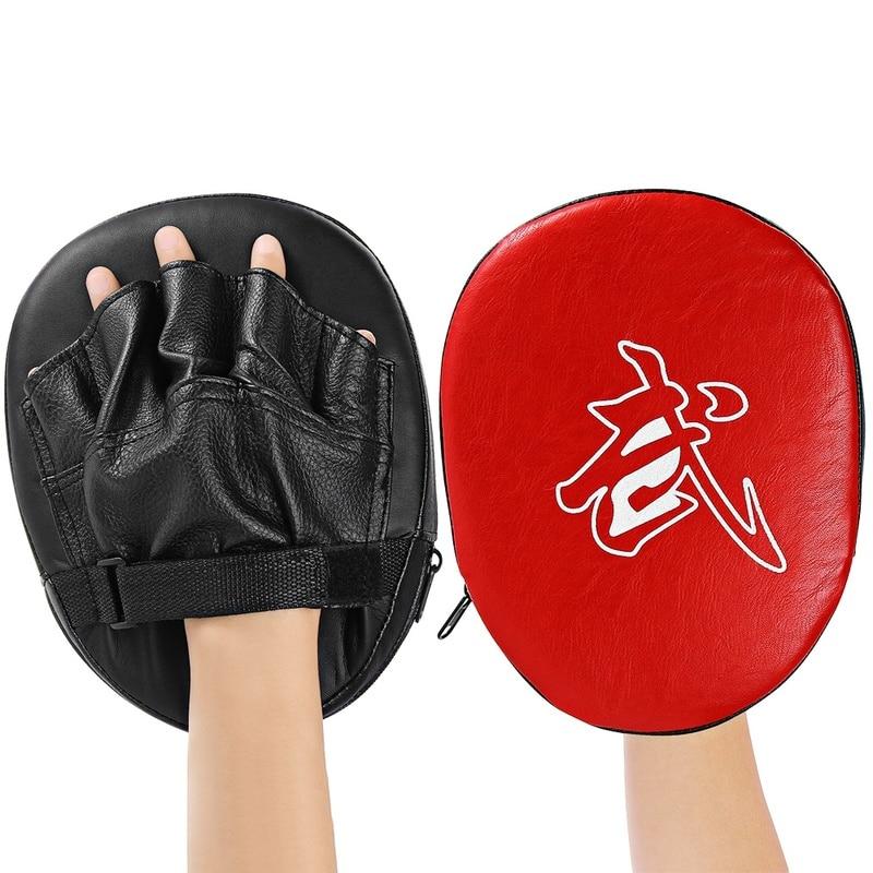 Punching Bag Boxing Pad Sand Bag Fitness Taekwondo MMA Hand Kicking Pad PU Leather Training Gear Muay Thai Foot Target 1 Pcs C