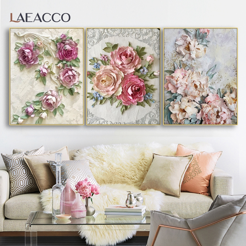 Laeacco Flowers Plants Wall Art Picture Poster and Print Canvas Painting & Calligraphy Bedroom Living Room Home Decor No Frame