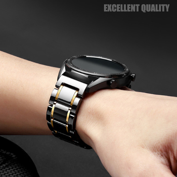 20MM 22MM Ceramic Straps For Xiaomi AMAZFIT Stratos 3 2 S/GTS/GTR 42MM 47MM /Pace/Bip Watchband Smart Watch Accessories Correa