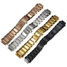 27mm stainless steel strap silver black gold rose gold for HUBLOT watch bracelet big bang classic fusion series 45mm watchbands