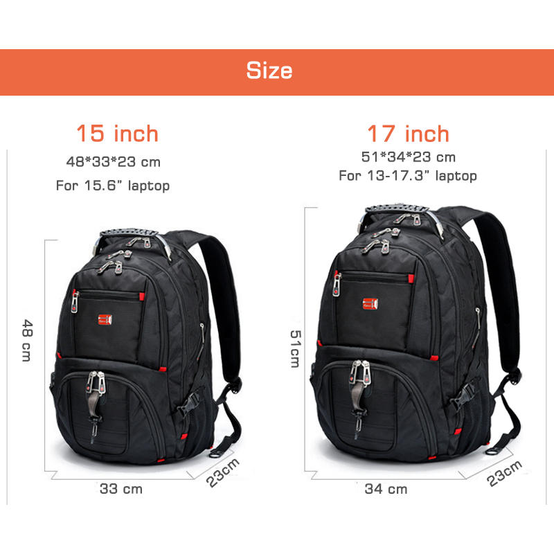 Laptop Backpack sleeve case bag Waterproof USB Charge Port 1