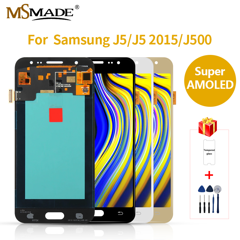 Super <font><b>AMOLED</b></font> LCD For Samsung GALAXY <font><b>J500</b></font> LCD J500F J500FN Display J500M J500H Display Touch Screen Digitizer Replacement Parts image