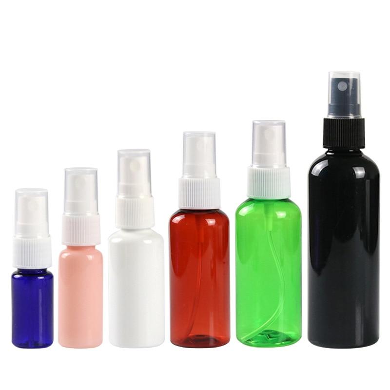 1Pcs Travel Black Plastic PP Perfume Atomizer Empty Spray Bottle 10/30/50/200ml