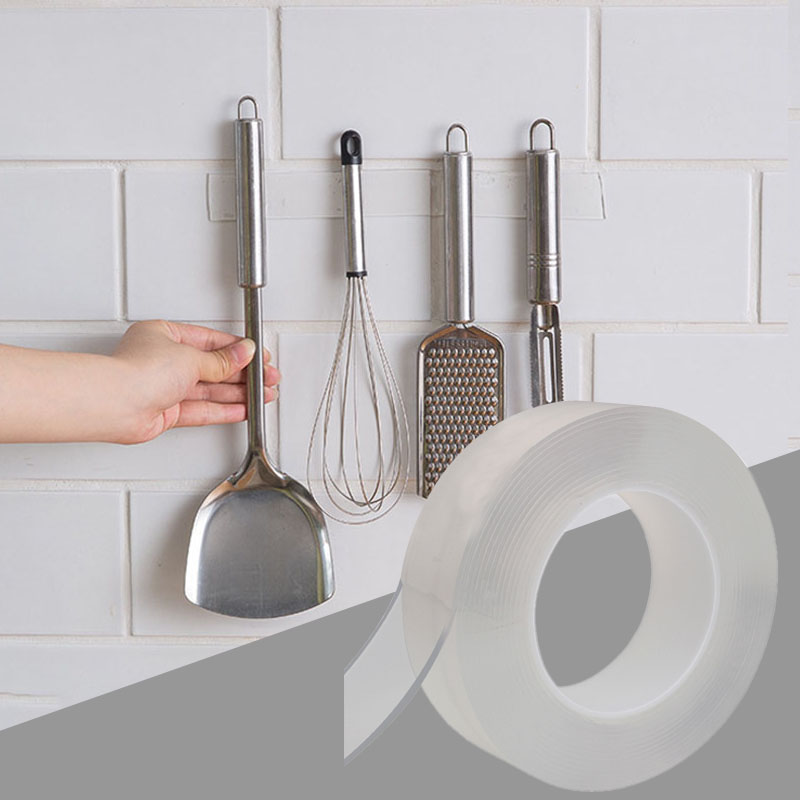 Nano Magic Tape Kitchen Organizer Knife Holder Spice Bottle Holder Multifunction Wall Storage Holders Kitchen Wall Mounted Rack