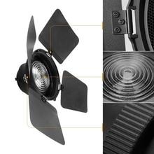 NiceFoto FD 110 פרנל הר אור התמקדות מתאם עבור Bowens הר LED וידאו אור עם אורות רשתות חלת דבש אסם דלתות