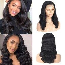 Ciało fala 13*4 koronkowa peruka na przód naturalną linią włosów ciało fala ludzkich włosów peruki brazylijski pre-oskubane koronki przodu peruki z ludzkich włosów