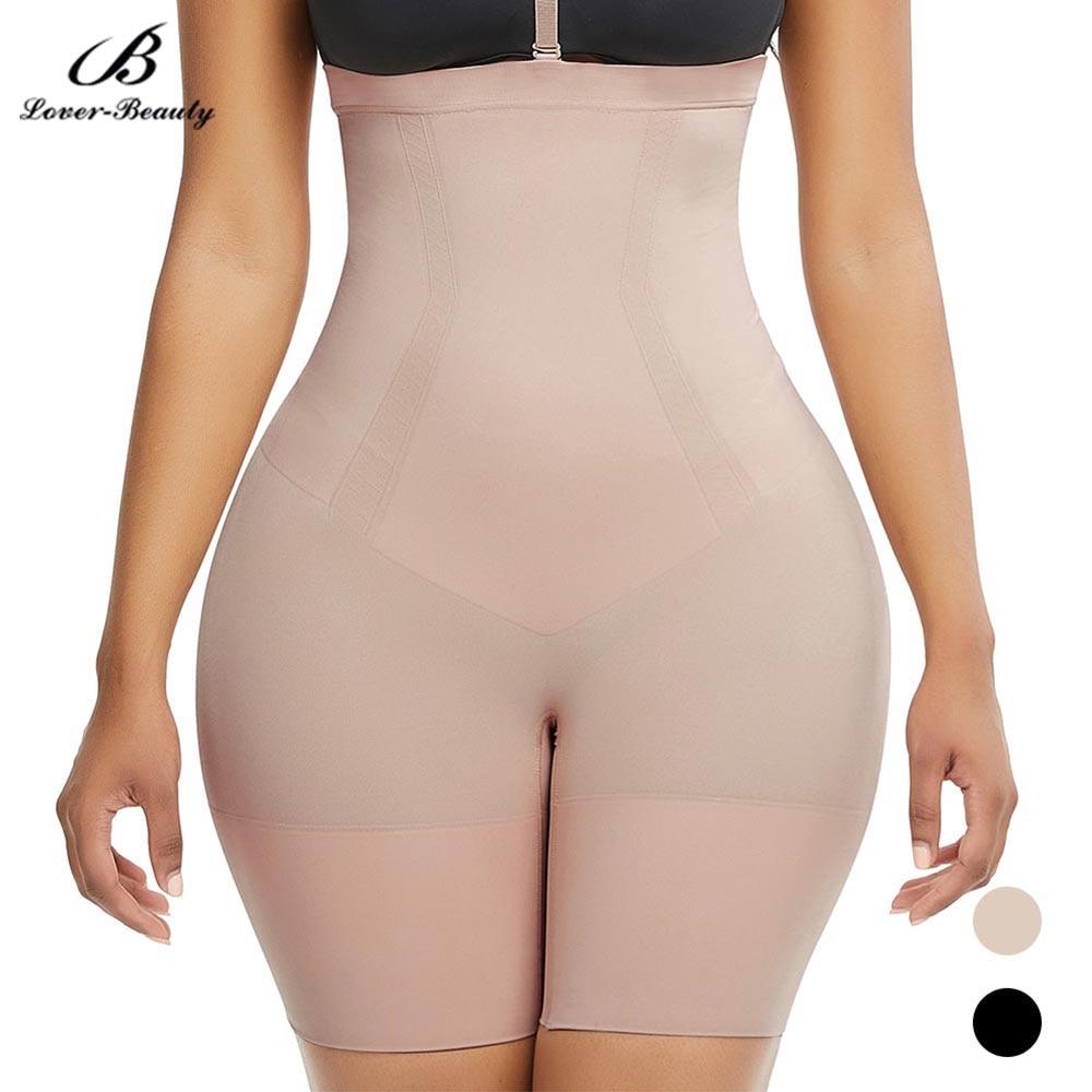Lover Beauty Body Shaper Seamless Women High-Waisted Mid-Thigh Short Slimming Abdomen Tummy Control Panties Shapewear Underwear