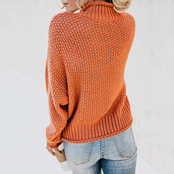 DANJEANER New Turtleneck Sweater Women Solid Casual Knitted Pullovers Fashion 2019 Female Warm Oversize Sweaters Tops for Women 4