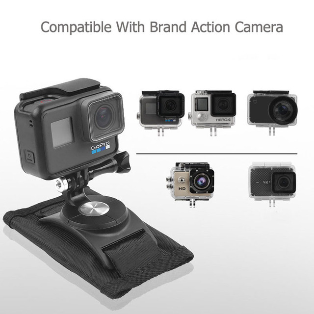 Sindax Sports Camera Backpack Clip Mount 360 Degree Rotary For Xiaomi Yi 4k Gopro Hero 7 6 5 4 Action Camera Accessories 8