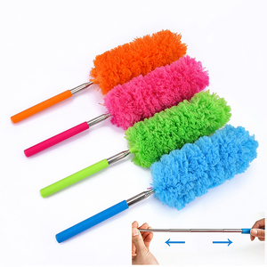 Adjustable Microfiber Duster Brush Stretch Extend Feather Duster Anti Dusting Brush Home Air-condition Car Furniture Cleaning(China)
