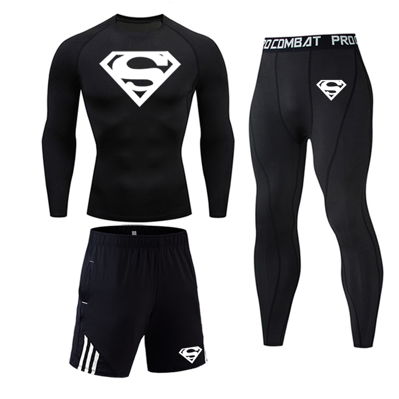 Mens Sportswear 3pieces Tracksuits Thermal Clothes Fitness Suit Active Suit Tracksuits Mans Sports Costumes Exercise Sets Mens