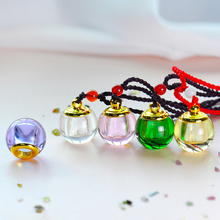 цена на Colorful Perfume Bottle Car Pendant Empty Crystal Bottle For Essential Oil Car-Styling Car Hanging