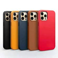 Leather Case for iPhone 12 Cases Luxury Wireless Charge Cover for iPhone 12 Pro Max 12 Mini Mobile Phone Fashion Protection Case