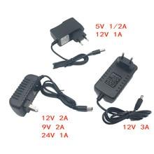 Блок питания зарядное устройство адаптер DC 5 в 9 в 12 В 24 В 1A 2A 3A адаптер DC 5 9 12 24 В вольт DC Swiching EU 220 В до 12 В Светодиодная лента