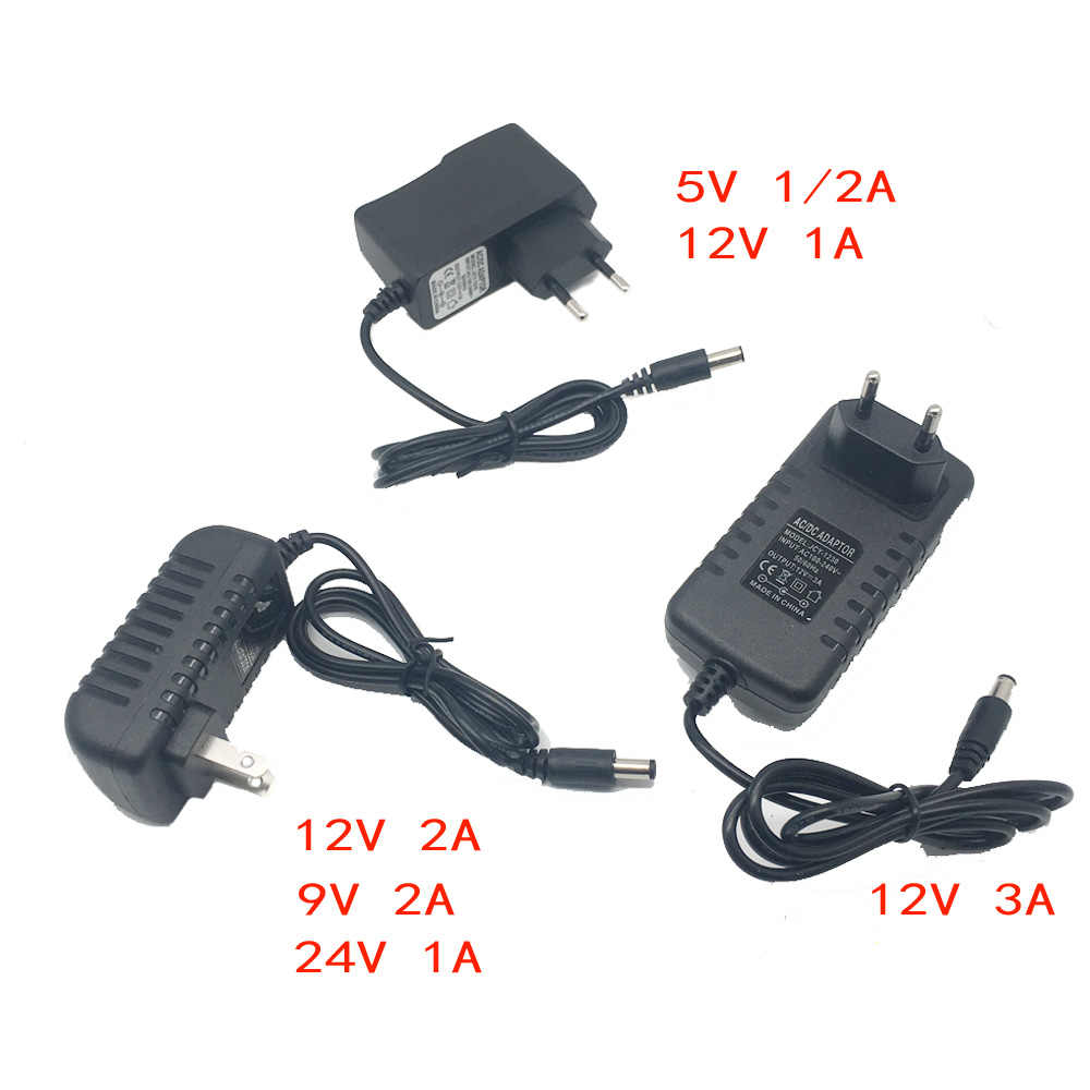 Voeding Lader Adapter Dc 5V 9V 12V 24V 1A 2A 3A Adapter Dc 5 9 12 24V Volt Dc Swiching Eu 220V Naar 12V Led Strip Lamp