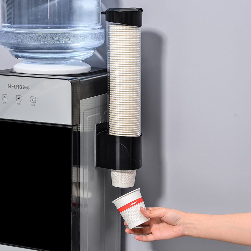 Disposable Paper Cups Dispenser Plastic Cup Holder For Water Dispenser Wall Mounted Automatic Cup Storage Rack Cups Container