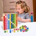 Обучающие деревянные игрушки Монтессори для детей, детские математические игрушки, таблица умножения 99, математические арифметические Обу...